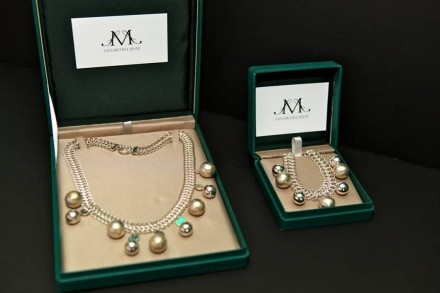 San Michele Silver Cascade Collection Necklace with Heart Pendant and Cascade Bracelet (San Michele's Finest Peruvian Sterling Silver) - $650
