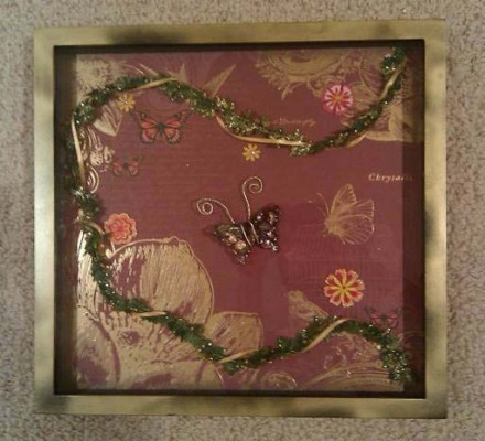 Handcrafted Shadow Box: Yvonne Lau - Chrysalis