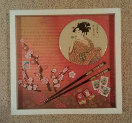 Handcrafted Shadow Box: Yvonne Lau - Geisha