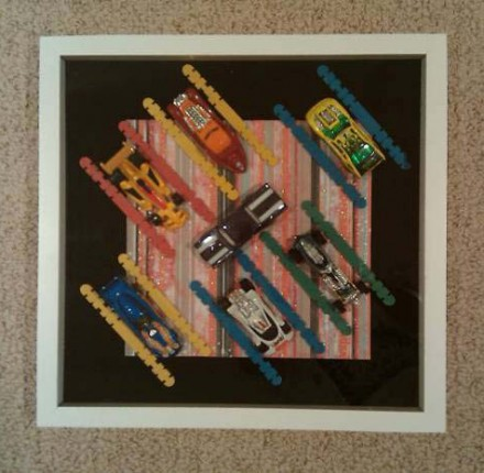 Handcrafted Shadow Box: Lauren Sharkey - Hot Wheels Speedway