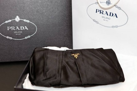 Prada Heavy Silk Raso Evening Clutch - $760