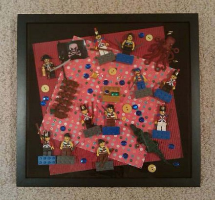 Handcrafted Shadow Box: Lauren Sharkey - Lego Ahoy!