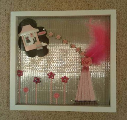 Handcrafted Shadow Box: Zale Okazaki - Pretty in Pink