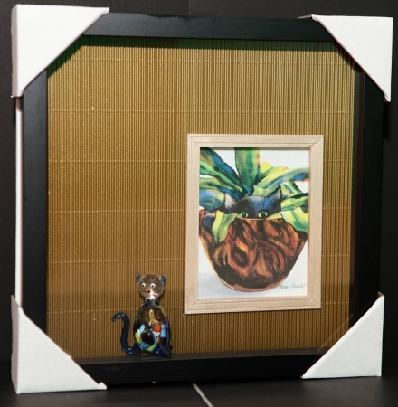 Handcrafted Shadow Box: Karen - Two Kittens - $40